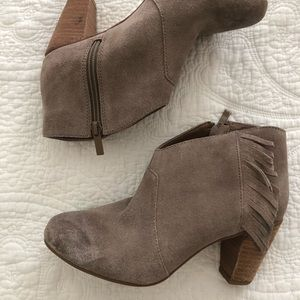 Tahari Camila style suede distressed bootie